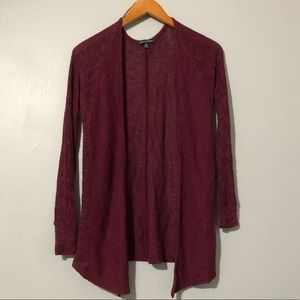 American Eagle Outfitters Maroon Cardigan